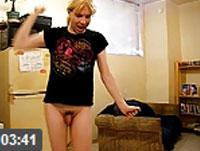 Teeny Transe vor der Webcam